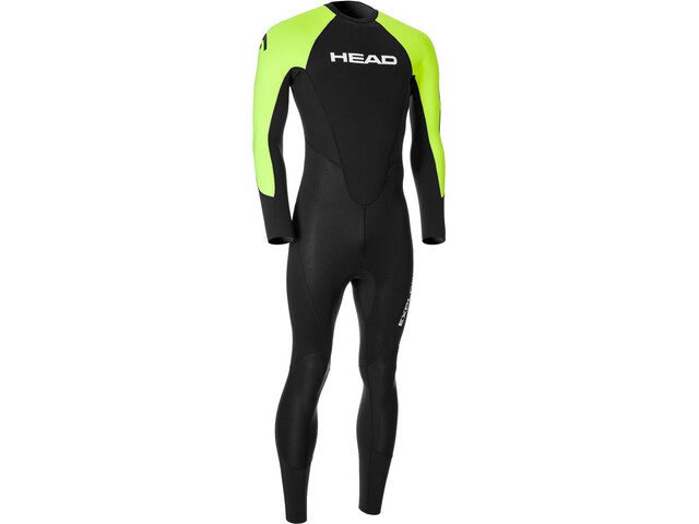 Head Expl**** 3.2.2 Wetsuit Heren, black/lime